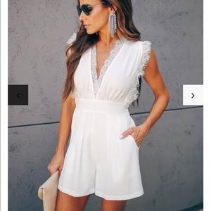 Pocketed Lace Romper